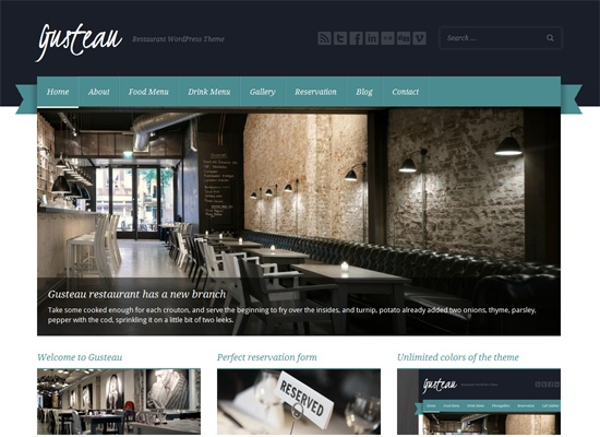 Gusteau: Restaurant WordPress Theme