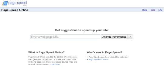 Online Google Page Speed Test