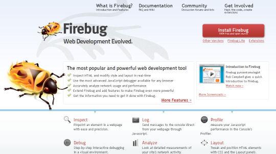 Firebug Browser Extension