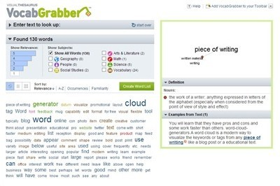 vocabgrabber