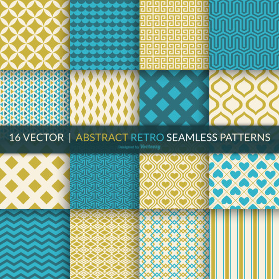 abstract retro seamless patterns