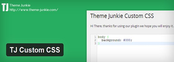 Theme Junkie Custom CSS WordPress Plugin
