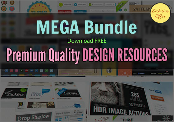 MEGA Bundle: Download Free Premium Quality Web & Graphic Design Resources