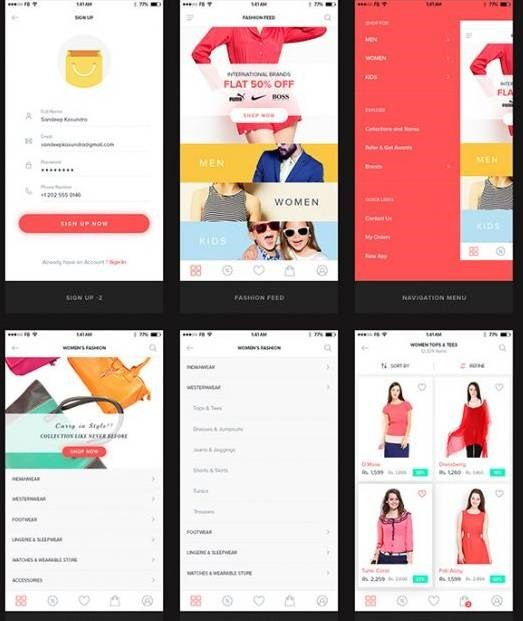 UI Kit for E-Commerce Mobile App