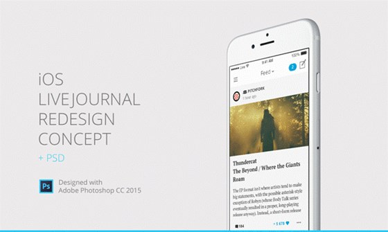iOS Livejournal Redesign