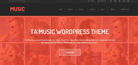 ta music free wordpress theme