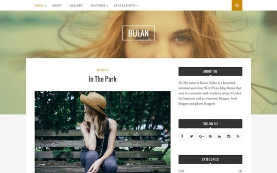 bulan free wordpress theme