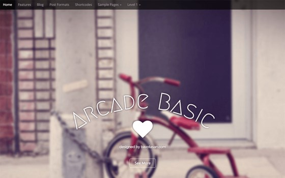 arcade free wordpress theme