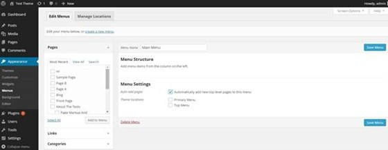 How To Create Dynamic Menu in WordPress Pages?