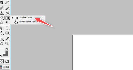 choose gradient tool - photoshop tutorial