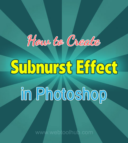 retro sunburst effect photoshop tutorial