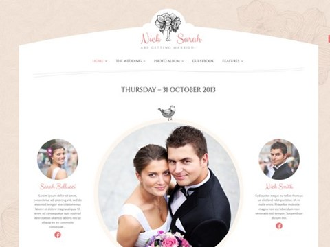 the wedding day wp template