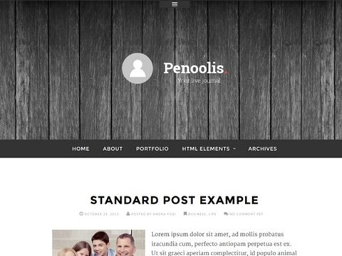 penoolis responsive blog theme