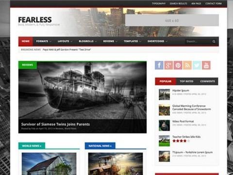 fearless bold modern news theme