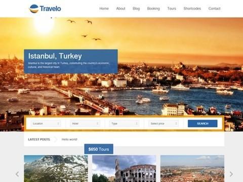 travelo wordpress travel template
