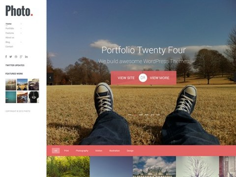 photo responsive wp theme