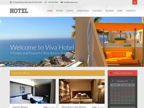 viva hotel wp theme