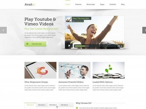 avada wordpress template