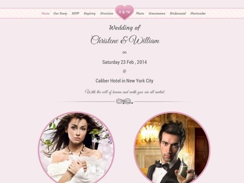 wedding event wordpress template