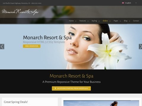 monarch wordpress template 2014