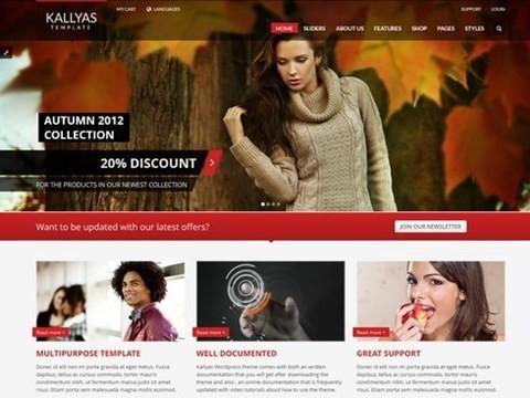 kallyas ecommerce website theme