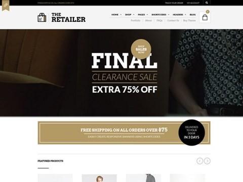 the retailer wp theme