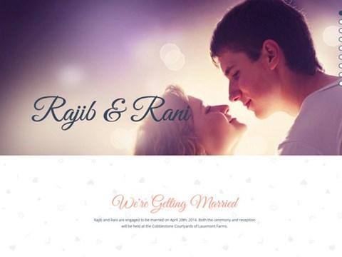 r+r wedding template