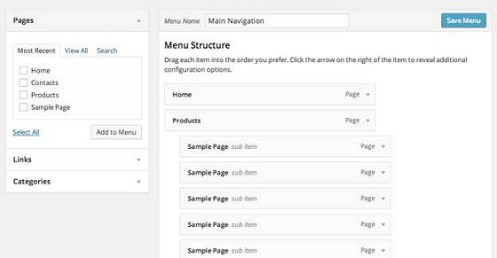 Step 1 - Create the Menu in WordPress
