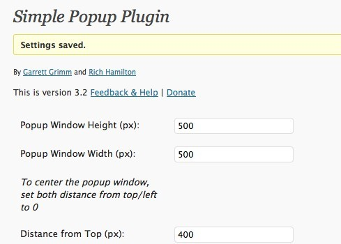 Simple Popup Plugin