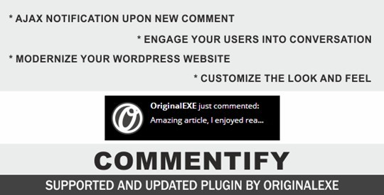 Commentify - Comments Notification for Wordpress