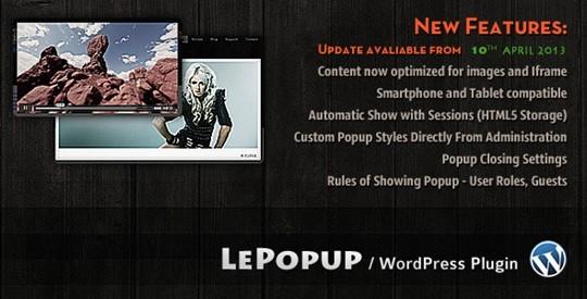 Lepopup Wordpress