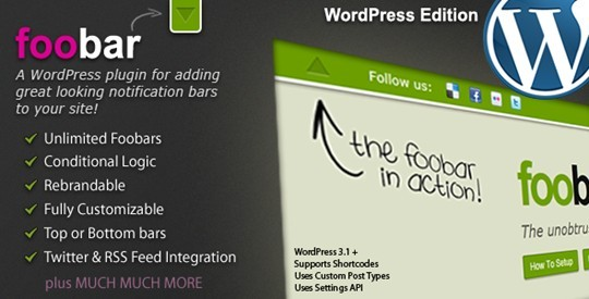 Foobar - Wordpress Notification Bars