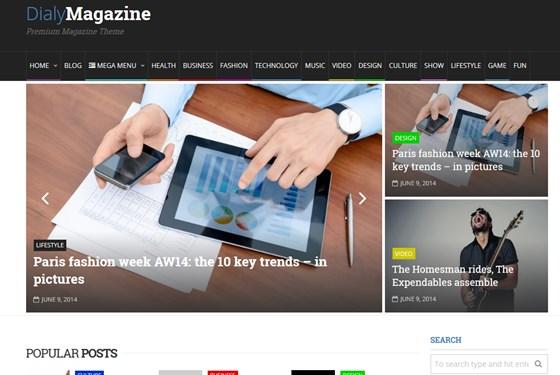 DialyMagazine Clean & Flat Magazine Theme