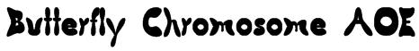Butterfly Chromosome AOE Font