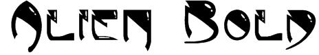 Alien Bold Font