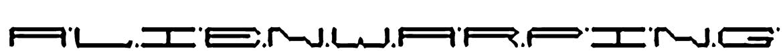 alienwarping Font