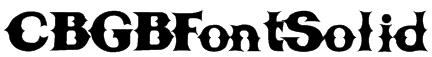 CBGBFontSolid Font