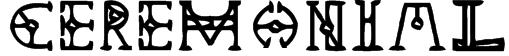 Ceremonial Font