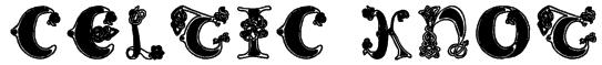 Celtic Knot Font