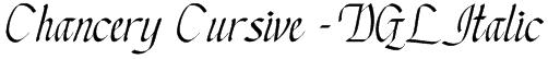 Chancery Cursive - DGL Italic Font