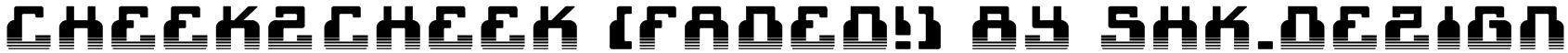 cheek2cheek (faded!) by shk.dezign Font