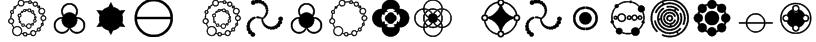 Crop Circle Dingbats Font