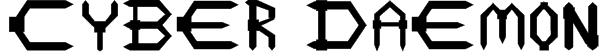 Cyber Daemon Font