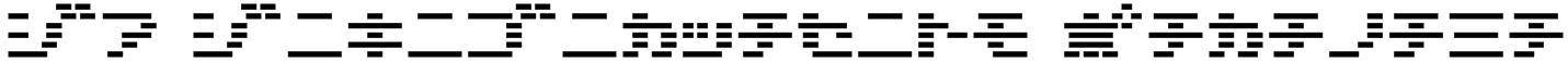 D3 DigiBitMapism Katakana Font