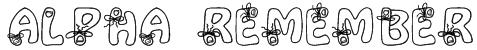 Alpha Remember Font