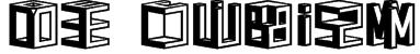 D3 Cubism Font