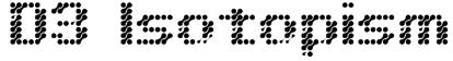 D3 Isotopism Font