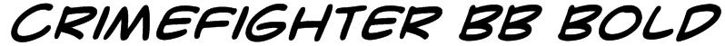 CrimeFighter BB Bold Font