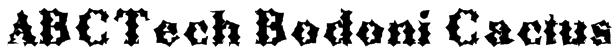 ABCTech Bodoni Cactus Font