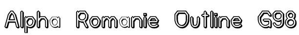 Alpha Romanie Outline G98 Font